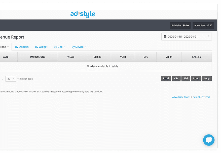 adstyle dashboard